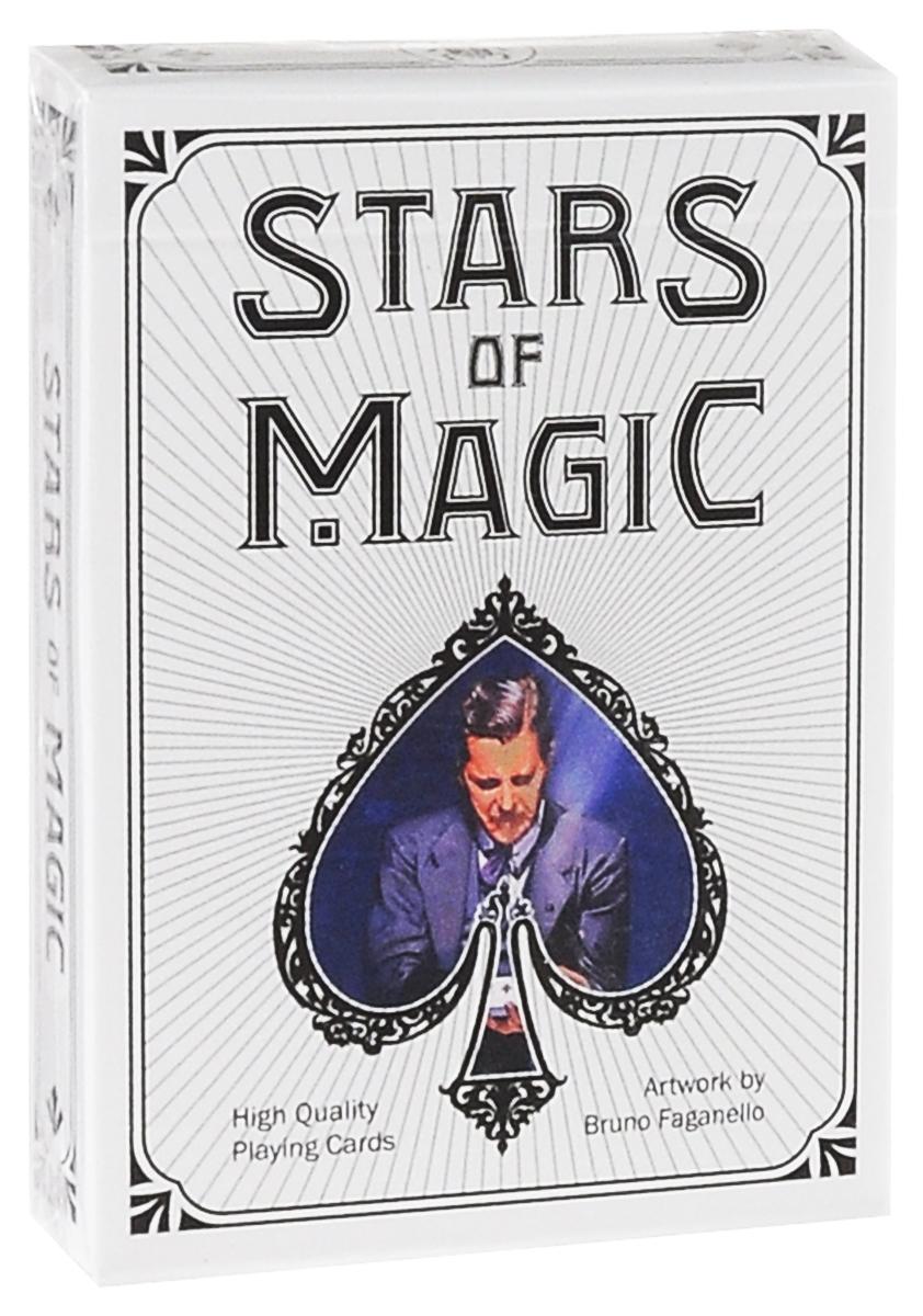 Карты игральные коллекционные Lo Scarabeo Stars of Magic - White Edition, 54 карты. PC54PC54Игральные карты Lo Scarabeo Stars of Magic - White Edition - это высококачественная колода игральных карт, которая понравится как профессиональным игрокам, так и любителям. Карты стилизованы под кости домино. Карты оформлены изображениями звезд магического искусства - знаменитых фокусников и факиров. Игральные карты Lo Scarabeo приятно удивят вас высоким качеством исполнения и подойдут для игроков всех возрастов и уровней подготовки.