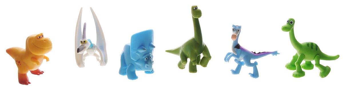 Хороший динозавр Набор мини-фигурок Папа, Птеродактиль, Арло, Нэш, Раптор, Трицератопс62308Набор мини-фигурок Хороший динозавр Арло и его стая без сомнения понравится вашему ребенку, ведь теперь он сможет пережить самые яркие моменты мультфильма с его героями или отправиться на новые приключения. Фигурки изготовлены из высококачественных нетоксичных материалов, абсолютно безопасных для вашего малыша. В набор входят 6 фигурок героев мультфильма с подвижными частями тела: Поппа, Птеродактиль, Арло, Нэш, Раптор, Трицератопс. Ваш ребенок часами будет играть с такой игрушкой, придумывая различные истории. Порадуйте его таким подарком!
