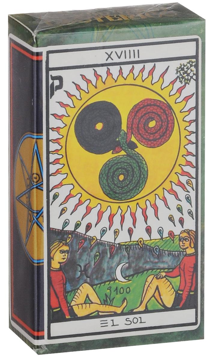 Карты Таро Fournier Esoteric TuckBox, цвет: синий, белый, 78 картК-548Карты Таро Fournier Esoteric TuckBox выполнены из высококачественного картона. Древнее Эзотерическое Таро является репродукцией колоды, созданной в 1870 году, под названием Jeu de la Princesse Tarot. Оно основано на колоде, разработанной Франсуа Альетте, более известном как Эттейла. Эттейла был известным оккультистом и гадателем в конце 18-го века, который популяризировал использование Таро для гадания и практику интерпретации обратных карт. В этой колоде каждая карта имеет номер. Старшие Арканы — карты №№ 1-21 и №78. Они основаны на традиционных Старших Арканах, но расположены в другом порядке и не имеют обычных имен. Затем идут карты мастей. Они похожи на обычные карты Малых Арканов, но масти и карты двора не определены. Каждая карта имеет ключевое слово для прямой и обратной позиции на пяти языках. Изображения отражают интерес Эттейлы к египетской культуре и дореволюционной Франции. В колоде 78 карт.