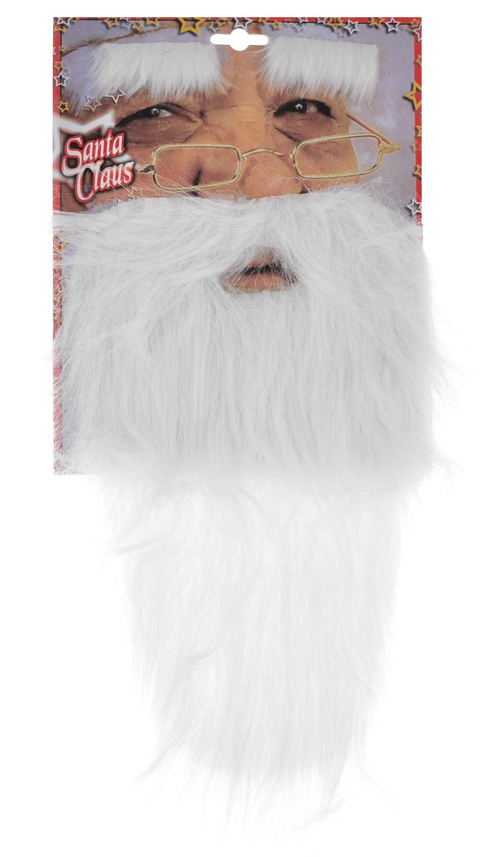 Набор карнавальный Sima-land Дед Мороз, 2 предмета327049Набор Sima-land Дед Мороз, изготовленный из искусственного волоса, состоит из бороды и бровей. Брови оснащены задней клейкой стороной, благодаря чему крепится на лицо очень просто и долго держится, не спадая. Борода оснащена резинкой. Это отличный маскарадный набор, который поможет вам перевоплотиться в Деда Мороза. Размер брови: 7 см х 3,5 см. Длина бороды: 39 см. Ширина бороды: 22 см.