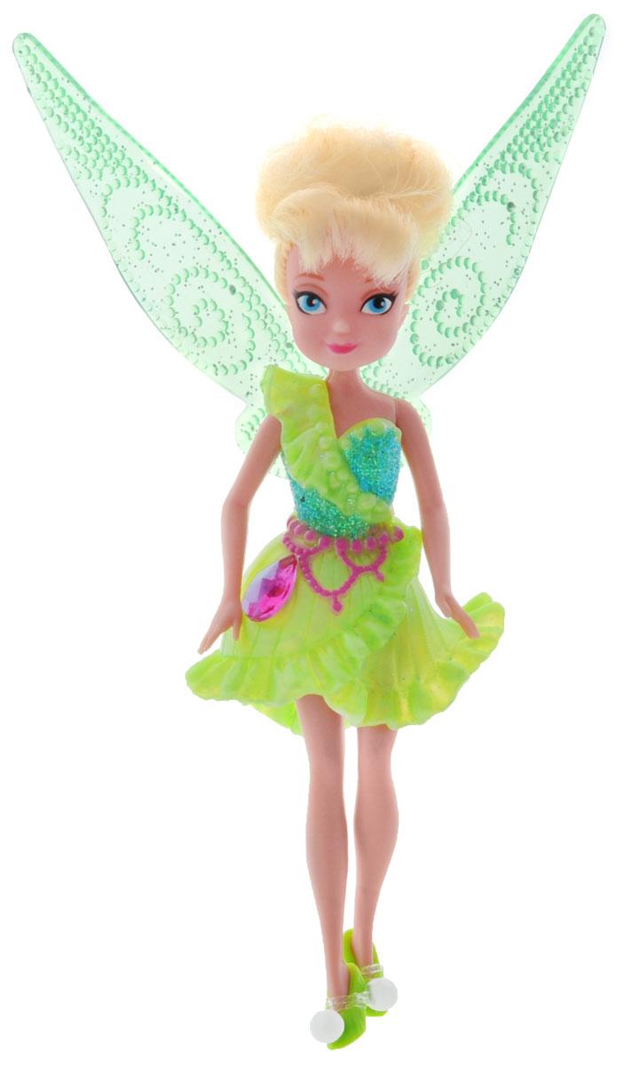 Disney Fairies Мини-кукла Pirate Fairy Tinker Bell762590Кукла Disney Fairies Pirate Fairy. Tinker Bell поможет вашей малышке окунуться в сказочный мир. Кукла создана по мотивам мультфильма Загадка пиратского острова. Tinker Bell - фея, чье волшебное мастерство непревзойденно. Куколка одета в зеленое блестящее платье с розовым поясом, на ножках - туфельки в тон платью. На юбочке платья расположен крупный блестящий кристалл. За спиной феи - съемные полупрозрачные крылышки. Ручки и ножки куколки подвижны. Игры с куклой способствуют эмоциональному развитию ребенка, а также помогают формировать воображение и художественный вкус. Ваша малышка с удовольствием будет играть с этой куколкой, проигрывая сюжеты из мультфильма или придумывая различные истории. Порадуйте свою принцессу таким великолепным подарком!