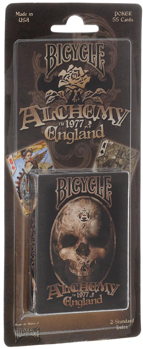Карты игральные Bicycle Alchemy 2, 54 листаК-505Игральные карты Bicycle Alchemy 2 - это высококачественная колода игральных карт, которая понравится как профессиональным игрокам, так и любителям. Карты оформлены оригинальными художественными работами, основанными на ретро-темах традиционных татуировочных изображений, черепов, огня, игральных костей и покерных карт, фотографий кинозвезд 40-50-ых и восточных драконов. Игральные карты Bicycle приятно удивят вас высоким качеством исполнения и подойдут для игроков всех уровней подготовки.