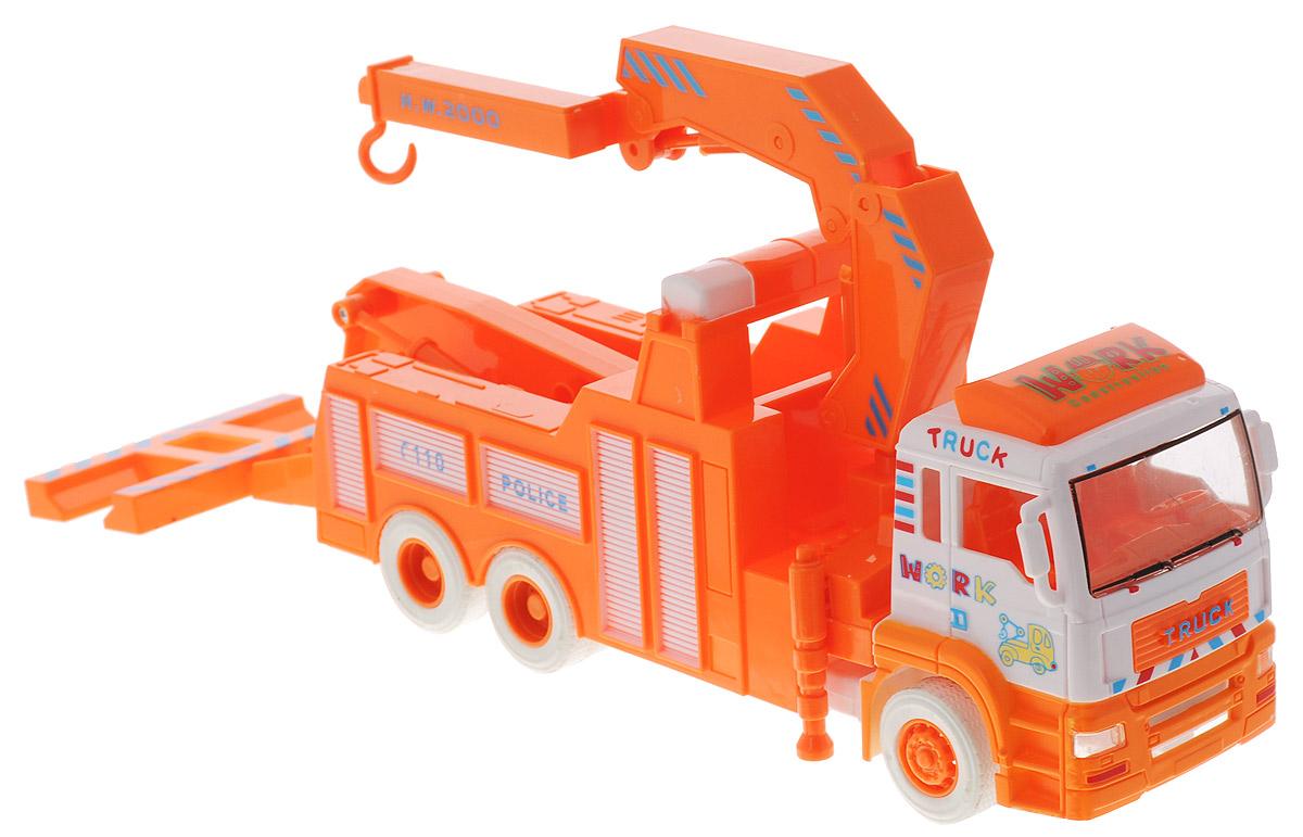 Zhorya Эвакуатор цвет оранжевый белыйХ75166Эвакуатор Zhorya - отлично смоделированный яркий с мощным краном и гидравлическим подъемником. Машинка с хорошей детализацией подойдет для игры как дома, так и на улице с друзьями. Ваш ребенок часами будет играть с машинкой, придумывая различные истории. Порадуйте его таким замечательным подарком!