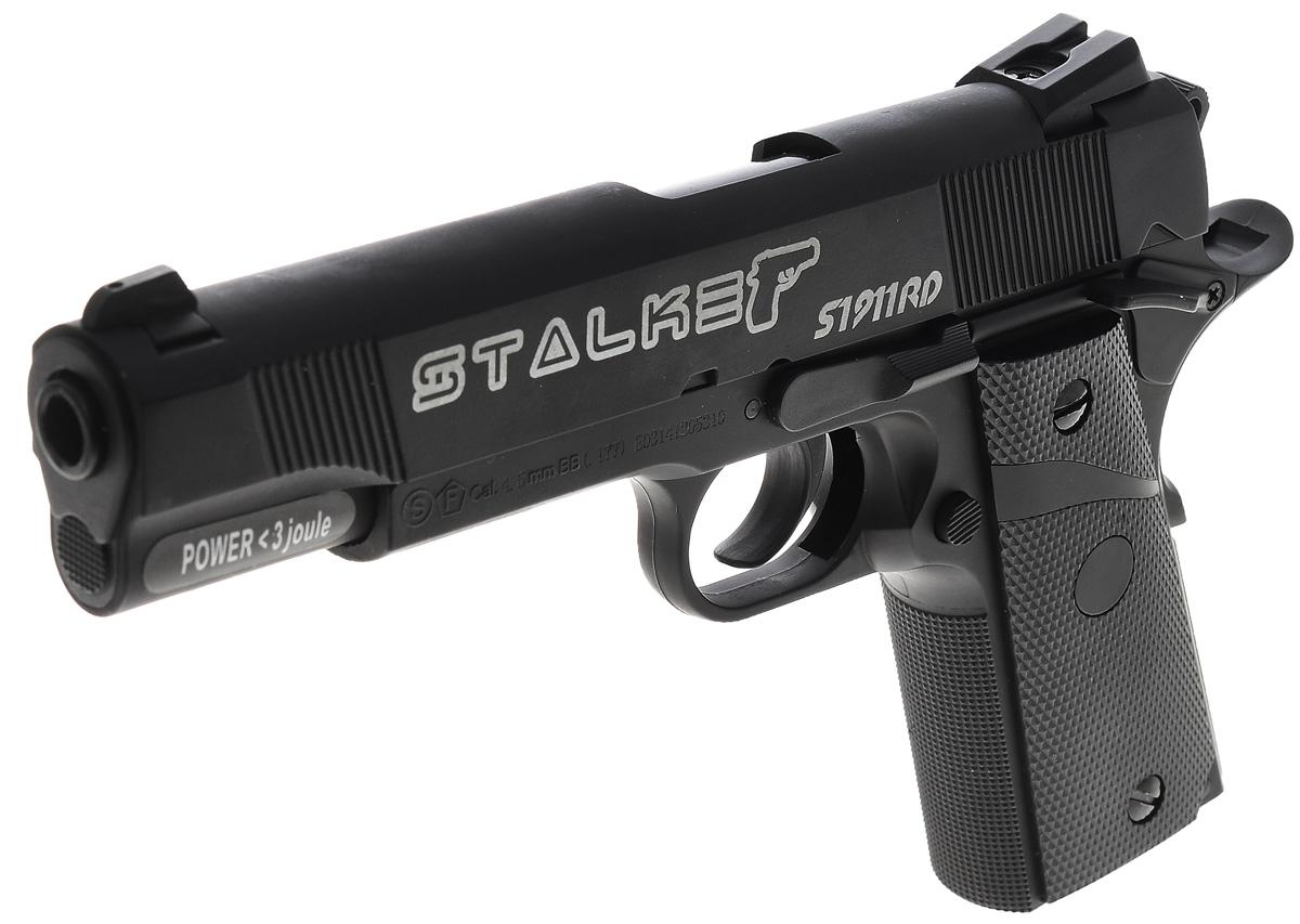 "Stalker Пистолет пневматический Stalker ""S1911RD"", цвет: черный"