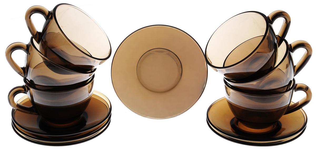 Набор чайный Luminarc Simply Eclipse, 12 предметовJ1261Набор чайный Luminarc Simply Eclipse изготовлен из высококачественного стекла. Набор состоит из шести чашек и шести блюдец. Элегантный дизайн и совершенные формы предметов набора привлекут к себе внимание и украсят интерьер вашей кухни. Набор чайный Luminarc Simply Eclipse идеально подойдет для сервировки стола и станет отличным подарком к любому празднику. Объем чашек: 200 мл. Диаметр чашек по верхнему краю: 9 см. Высота чашек: 6,5 см. Диаметр блюдец: 13 см.