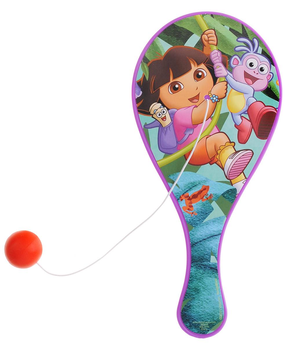 Amscan Игра лапта с мячиком Даша-путешественница1507-0992Игра лапта с мячиком Даша-путешественница - это красочная игрушка-ракетка с мячиком на резинке. Отличная забава для детей. В упаковке одна ракетка с шариком на резинке.