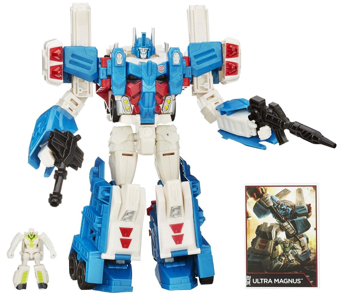 Transformers Трансформеры Дженерэйшнс Комбайнер Ворс ЛидерB0972EU4Игрушка-трансформер Дженерэйшнс Комбайнер Ворс Лидер привлечет внимание не только ребенка, но и взрослого. Игрушка изготовлена из прочного пластика белого синего и красного цвета. Трансформер имеет две вариации: первая - грозный робот, вторая - грузовая машина. Превратить робота в модель машины не составит труда, достаточно лишь проявить конструкторскую смекалку. Вместе с большим трансформером в наборе имеется оружие, карточки и маленькая фигурка трансформера, что позволит значительно разнообразить игры вашего ребенка. В наборе имеется инструкция. Этот яркий трансформер станет любимой игрушкой вашего ребенка. Порадуйте его таким замечательным подарком!