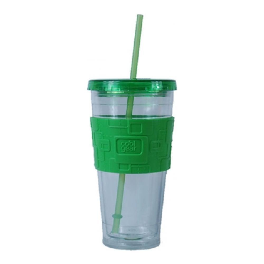 Кружка дорожная для холодных напитков Eco 2 Go Giant 720мл, двойные стенки, с трубочкой, антискользящий ободок, закручивающаяся, арт.1193gr1193gr