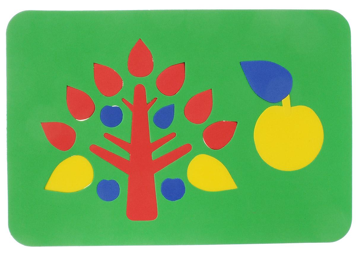 Август Мягкая мозаика Дерево цвет основы зеленый27-2005_зеленыйМягкая мозаика Дерево выполнена из мягкого полимера, который дает юному конструктору новые удивительные возможности в игре. Мозаика представляет собой основу, в которой из семнадцати элементов собираются дерево и яблоко. Детали мозаики гнутся, но не ломаются, их всегда можно состыковать. Ребенок сможет собрать грибы и в ванной, благодаря тому, что элементы мозаики можно намочить и они отлично будут прилипать к стенке. Такая мозаика способствует развитию моторики пальцев и рук ребенка, развивает координацию движений, внимание, память, фантазию, а также помогает научиться воспринимать детали, как часть целого.
