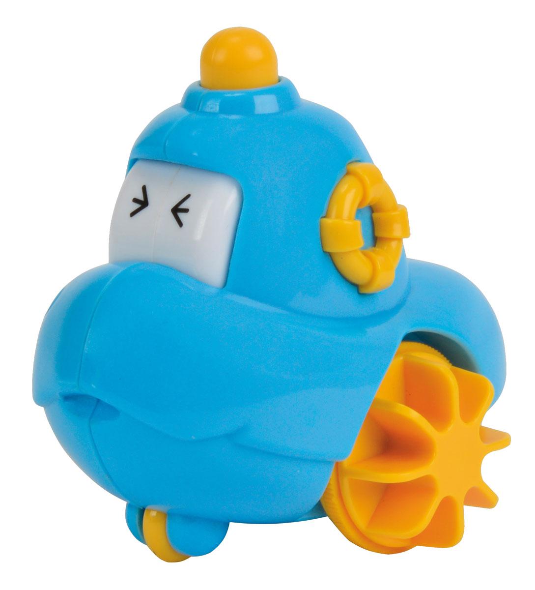 Simba Инерционная игрушка Лодочка 2 в 1 цвет голубой4011643_голубойИгрушка для ванной Лодочка обязательно порадует малыша и сделает принятие ванной и водные процедуры забавным развлечением. Яркие впечатления и звонкий смех станут постоянными явлениями во время купания. Игрушка, выполненная из высококачественных материалов, оснащена подвижными глазками и специальным механизмом, позволяющим ей плавать в воде. Игрушка помогает развивать мелкую моторику, цветовосприятие и воображение. Порадуйте своего малыша таким замечательным подарком.
