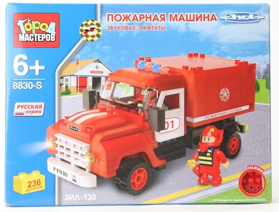 Город мастеров Конструктор Пожарная машина ЗИЛ-130 (без лестницы)BB-8830-RS_без лестницыГород мастеров Конструктор Пожарная машина ЗИЛ-130 (без лестницы)