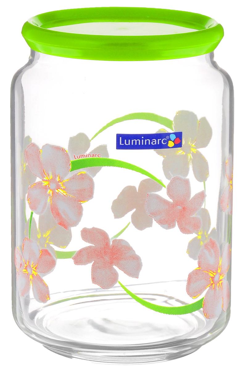 Банка Luminarc Rondo Sweet Impression, цвет: прозрачный, салатовый, 0,75 лJ5365Банка Luminarc Rondo Sweet Impression, выполненная из высококачественного стекла, очень проста в эксплуатации. Изделие оснащено пластиковой плотно закрывающейся крышкой. Банка отлично подойдет для хранения сыпучих продуктов. Такая баночка станет достойным дополнением к вашему кухонному инвентарю.