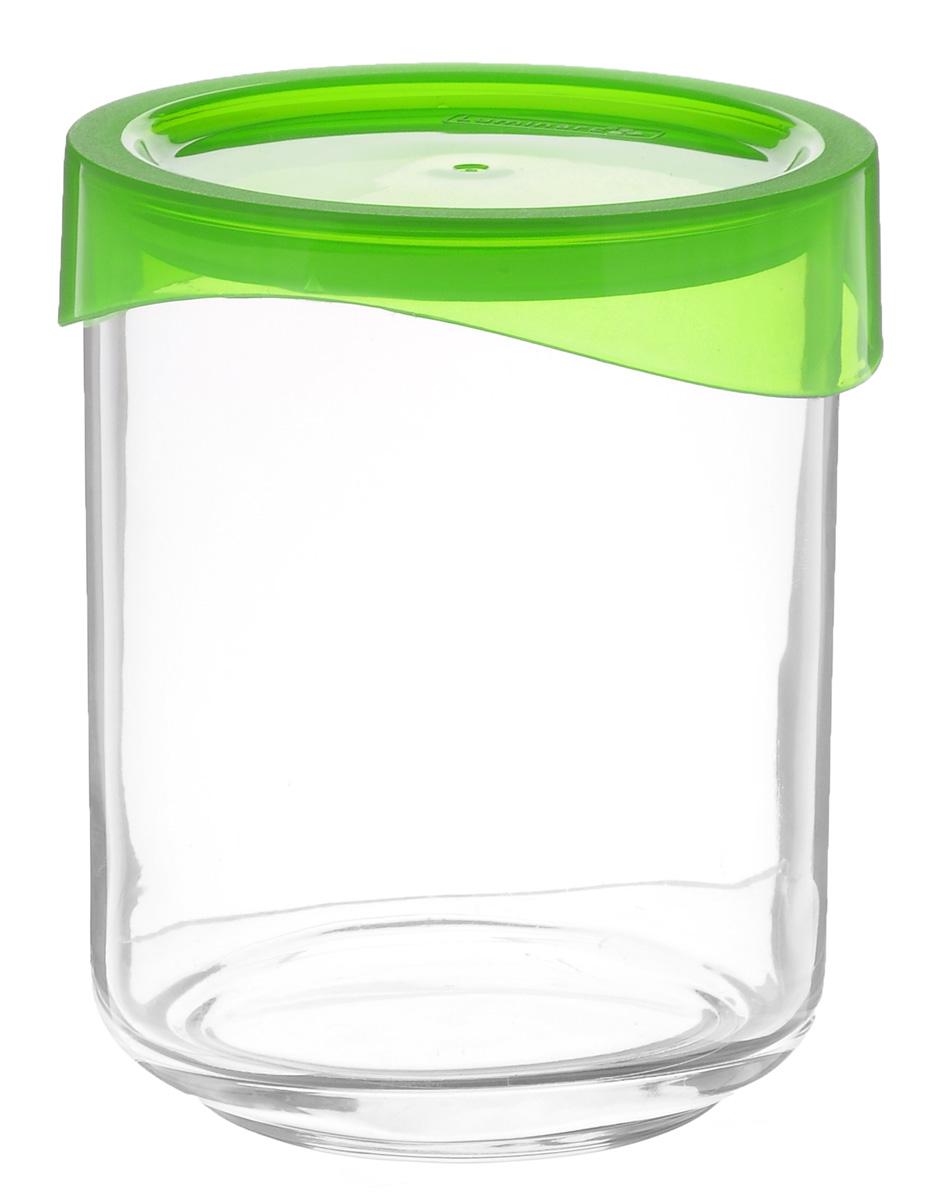 Банка Luminarc KeepNBox, цвет: прозрачный, зеленый, 0,8 лG4380Банка Luminarc KeepNBox, выполненная из высококачественного стекла, очень проста в эксплуатации. Изделие оснащено пластиковой плотно закрывающейся крышкой. Банка отлично подойдет для хранения сыпучих продуктов. Такая баночка станет достойным дополнением к вашему кухонному инвентарю.