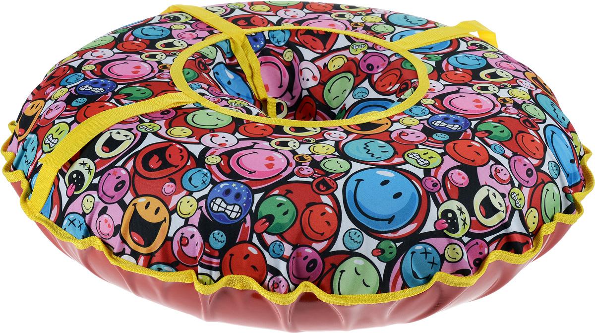 Санки надувные Иглу Народные. Smiles, средние, цвет: мультиколорАрт2121123001175Любимая детская зимняя забава - это кататься с горки. Надувные санки Smiles - это отличный вариант для тех, кто любит весело проводить время на свежем воздухе. Надувные санки Smiles - это оригинальные круглые санки с простым дизайном, верх которых выполнен из легкой и прочной ткани, а дно из ПВХ. Верхняя и нижняя части сшиты швом наружу. Санки оборудованы плотной лентой для удобной буксировки. Комплектация: автомобильная камера согласно техническим условиям, упаковочный чехол, инструкция по эксплуатации на русском языке. Диаметр в накаченном состоянии: 75 см. Используемые камеры: R-14. Рекомендованное давление 0.08 Атм. УВАЖАЕМЫЕ КЛИЕНТЫ! Просим обратить ваше внимание на тот факт, что санки поставляются в сдутом виде и надуваются при помощи насоса (насос не входит в комплект).