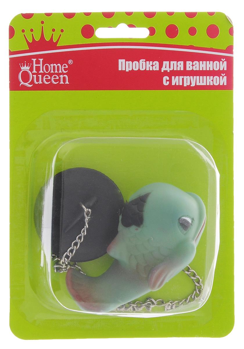 Пробка для ванны Home Queen Дельфин, цвет: зеленый, 5 х 1,5 см52517_зеленыйПробка для ванны Home Queen Дельфин изготовлена из полипропилена. Пробка оснащена цепочкой, на конце которой располагается забавная резиновая игрушка. Потянув за игрушку, вы легко вытащите пробку из ванны. Этот яркий аксессуар станет развлечением для вашего ребенка во время купания и приятным дополнением к интерьеру ванной комнаты. Размер пробки: 5 см х 5 см х 1,5 см. Размер фигурки дельфина: 9 см х 5 см х 4 см.