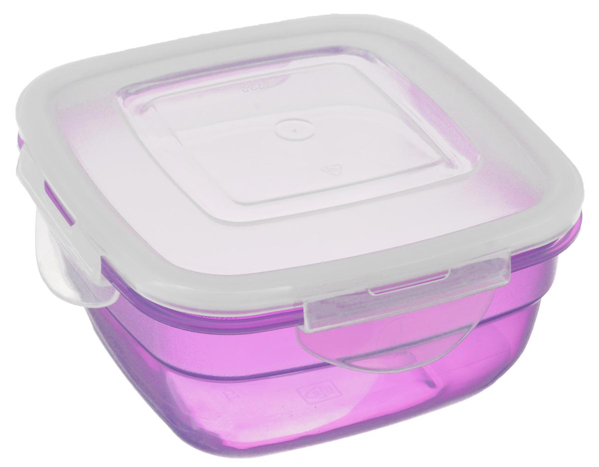 Контейнер Phibo Safe-Food, цвет: прозрачный, сиреневый, 0,6 лС11572_сиреневыйКонтейнер Phibo Safe-Food изготовлен из высококачественного полипропилена и не содержит Бисфенол А. Крышка контейнера прозрачная, плотно закрывается на 4 защелки. Контейнер устойчив к воздействию масел и жиров, легко моется. Подходит для использования в микроволновых печах при температуре до +100°С, выдерживает хранение в морозильной камере при температуре -24°С, его можно мыть в посудомоечной машине при температуре до +95°С. Объем контейнера: 0,6 л.