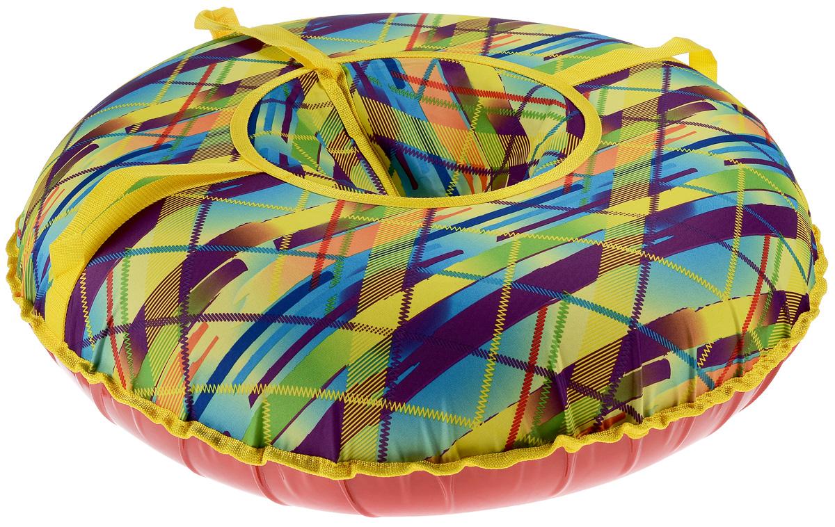 Санки надувные Иглу Народные. Полоски, средние, цвет: мультиколорАрт2121123001199Любимая детская зимняя забава - это кататься с горки. Надувные санки Smiles - это отличный вариант для тех, кто любит весело проводить время на свежем воздухе. Надувные санки Smiles - это оригинальные круглые санки с простым дизайном, верх которых выполнен из легкой и прочной ткани, а дно из ПВХ. Верхняя и нижняя части сшиты швом наружу. Санки оборудованы плотной лентой для удобной буксировки. Комплектация: автомобильная камера согласно техническим условиям, упаковочный чехол, инструкция по эксплуатации на русском языке. Диаметр в накаченном состоянии: 75 см. Используемые камеры: R-14. Рекомендованное давление 0.08 Атм. УВАЖАЕМЫЕ КЛИЕНТЫ! Просим обратить ваше внимание на тот факт, что санки поставляются в сдутом виде и надуваются при помощи насоса (насос не входит в комплект).