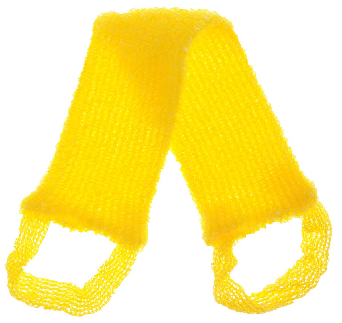 Мочалка вязаная Eva Букле, цвет: желтый, 47 х 10 смМ39_желтыйВязаная синтетическая мочалка Eva Букле, изготовленная из полипропилена, отлично очищает кожу и создает обильную пену. Она быстро сохнет, не требует ухода, существенно экономит моющее средство и имеет длительный срок службы. Размер мочалки (без учета ручек): 47 х 10 х 1 см. Длина мочалки (с учетом ручек): 64 см.