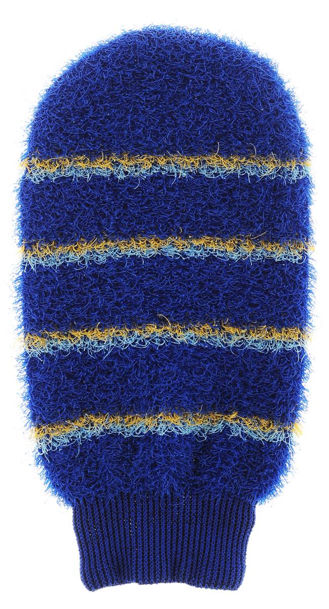 Мочалка-рукавица массажная Riffi, цвет: синий804_синийМочалка-рукавица Riffi идеально подходит для интенсивного массажа и пилинга. Цветные полоски из более жесткого материала хорошо освобождают кожу от ороговелостей и отмерших клеток, делая ее гладкой и упругой. Интенсивный слегка пощипывающий массаж тела с применением мочалки Riffi стимулирует кровообращение, активирует кровоснабжение и улучшает общее самочувствие, борется с болями и спазмами в мышцах. В результате у вас мягкая, гладкая и чистая кожа, мочалка помогает бороться с целлюлитом, предотвращает появление огрубевшей кожи и вросших волос. Riffi приносит приятное расслабление всему организму. Варежка необычайно гигиенична и долговечна.