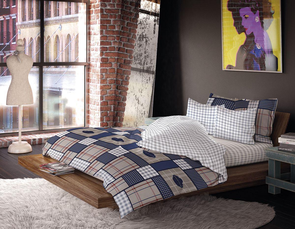 Комплект белья Волшебная ночь Сатин, 1,5-спальный, наволочки 50x70, 40х40см, цвет: серый, синий190805Роскошный комплект постельного белья Волшебная ночь выполнен из сатина (100% хлопка), имеет орнамент в клетку. Комплект состоит из пододеяльника, простыни и трех наволочек. Третья дополнительная наволочка в комплектации размером 40 х 40 см. Доверьте заботу о качестве вашего сна высококачественному натуральному материалу.