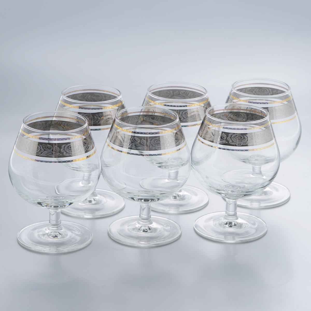 Набор бокалов для бренди Гусь-Хрустальный Первоцвет, 250 мл, 6 штTL66-1740Набор Гусь-Хрустальный Первоцвет состоит из 6 бокалов, изготовленных из высококачественного натрий-кальций-силикатного стекла. Изделия оформлены красивым зеркальным покрытием и прозрачным узором. Бокалы предназначены для подачи бренди. Такой набор прекрасно дополнит праздничный стол и станет желанным подарком в любом доме. Разрешается мыть в посудомоечной машине. Диаметр бокала (по верхнему краю): 5,5 см. Высота бокала: 11 см. Диаметр основания бокала: 6,7 см.
