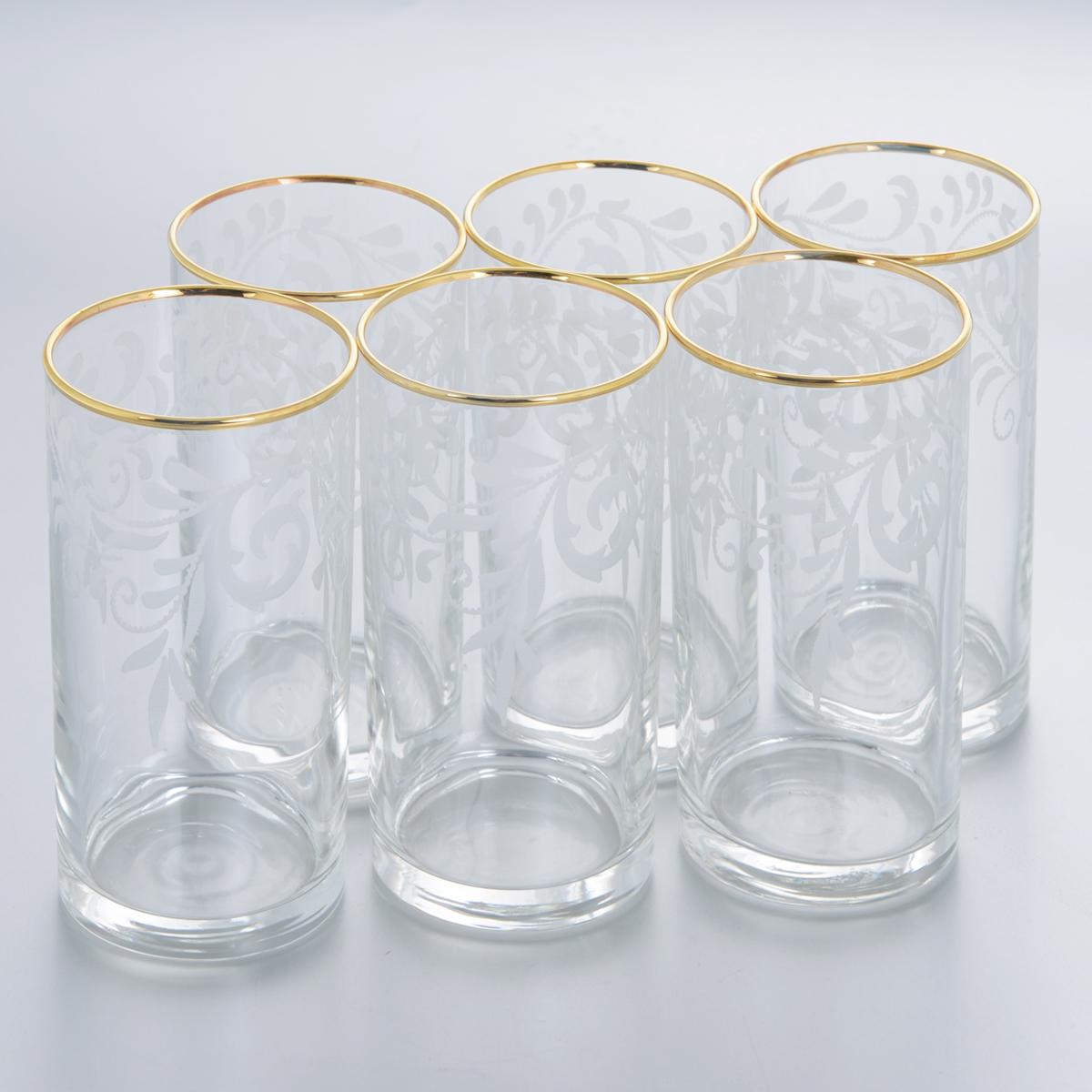 Набор стаканов для коктейлей Гусь-Хрустальный Веточка, 290 мл, 6 штEL10-402Набор Гусь-Хрустальный Веточка состоит из 6 высоких стаканов, изготовленных из высококачественного натрий-кальций-силикатного стекла. Изделия оформлены красивым зеркальным покрытием и белым матовым орнаментом. Стаканы предназначены для подачи коктейлей, а также воды и сока. Такой набор прекрасно дополнит праздничный стол и станет желанным подарком в любом доме. Разрешается мыть в посудомоечной машине. Диаметр стакана (по верхнему краю): 6 см. Высота стакана: 12,5 см.