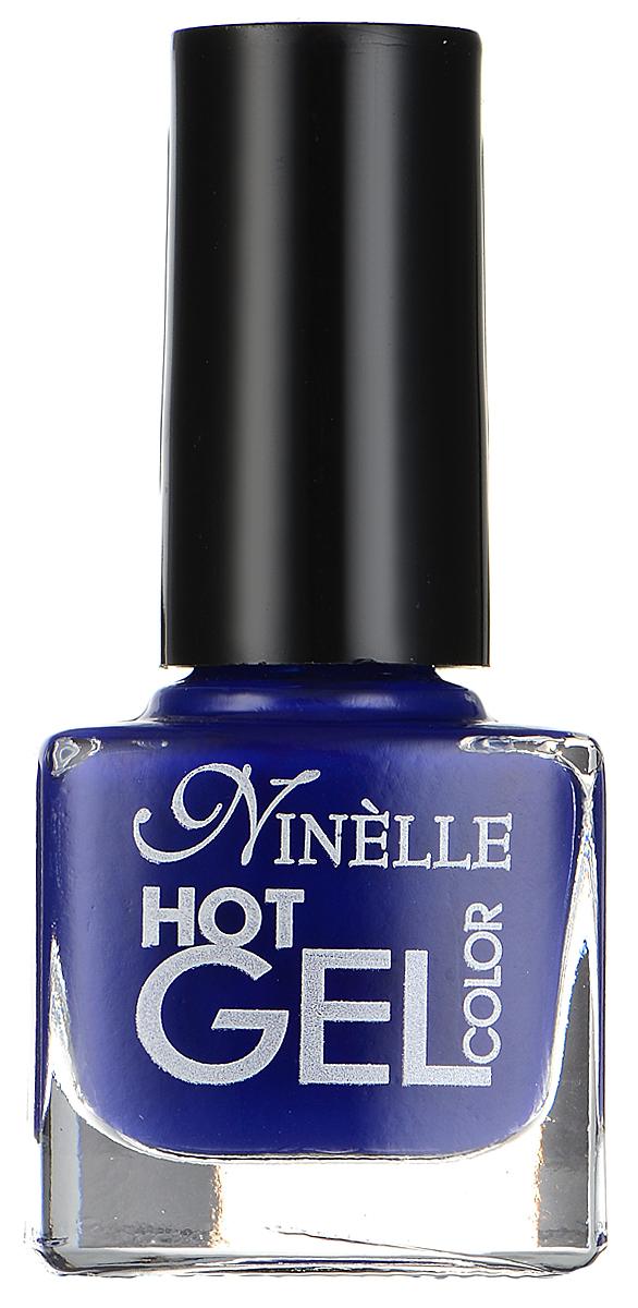 Ninelle Гель-лак для ногтей Hot Gel Color, тон G10 синий, 6 мл1027N10736Революционная формула гель-лака Ninelle Hot Gel Color создает супер глянцевый маникюр с 3D эффектом. Цвет яркий, идеально гладкий и невероятно насыщенный уже после первого слоя! Плоская широкая кисть с округлыми щетинками гарантирует легкое и быстрое нанесение. Формула без UV лампы. Гипоаллергенно. Не содержит толуол и формальдегид. Товар сертифицирован.