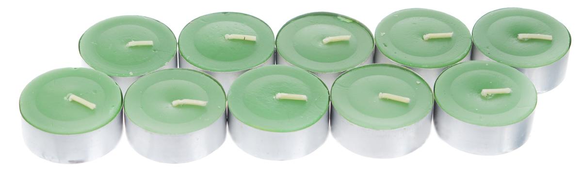 Набор свечей Lunten Ranta, цвет: зеленый, диаметр 3,7 см, 10 шт54286_4Набор Lunten Ranta состоит из 10 круглых свечей без запаха, изготовленных из парафина. Такой набор украсит интерьер вашего дома или офиса и наполнит его атмосферу теплом и уютом.