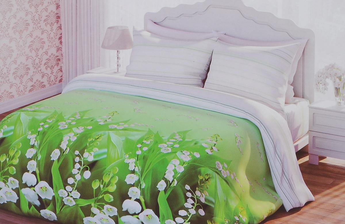 Комплект белья 1001 Ночь Весенний аромат, 2-спальный, наволочки 70х70, цвет: белый, зеленый. 311888311888Роскошный комплект постельного белья 1001 Ночь Весенний аромат выполнен из натурального 100% хлопка. Неоспоримым плюсом постельного белья из такой ткани является мягкость и легкость, она прекрасно пропускает воздух, приятная на ощупь и за ней легко ухаживать. Комплект состоит из пододеяльника, простыни и двух наволочек, оформленных цветочным принтом. Благодаря такому комплекту постельного белья вы создадите неповторимую и романтическую атмосферу в вашей спальне.