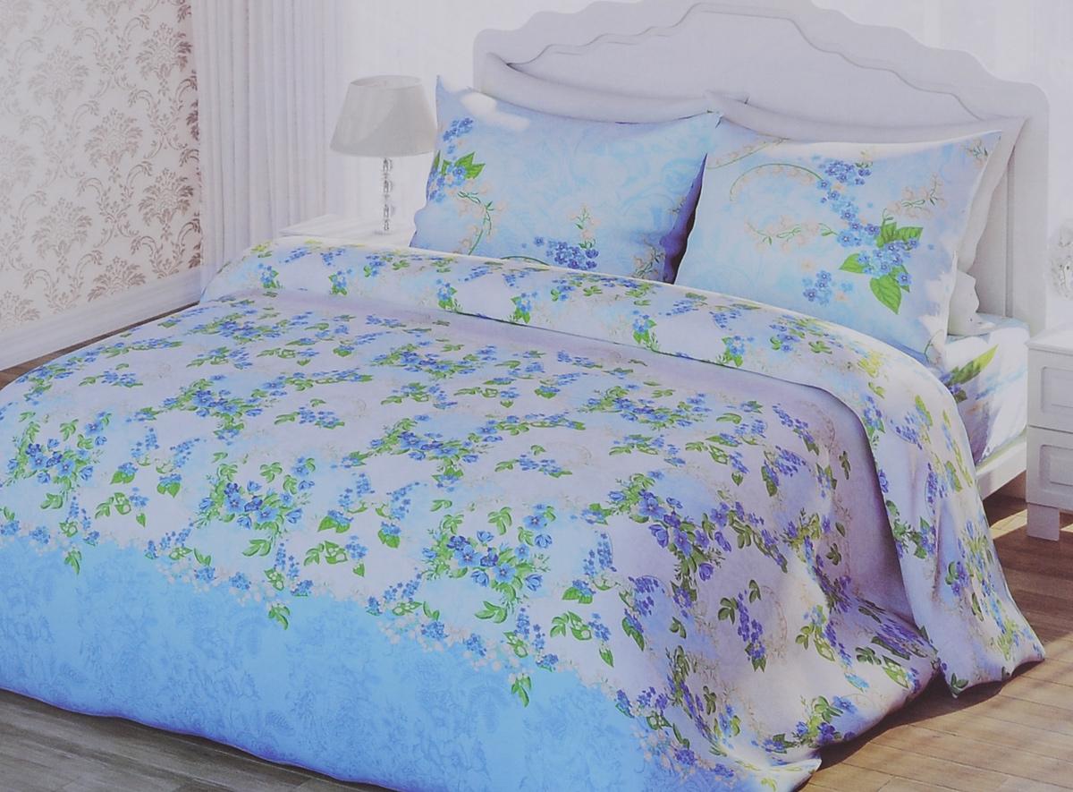 Комплект белья 1001 Ночь Ласковый май, 2-спальный, наволочки 70х70, цвет: голубой, зеленый. 311886311886Роскошный комплект постельного белья 1001 Ночь Ласковый май выполнен из натурального 100% хлопка. Неоспоримым плюсом постельного белья из такой ткани является мягкость и легкость, она прекрасно пропускает воздух, приятная на ощупь и за ней легко ухаживать. Комплект состоит из пододеяльника, простыни и двух наволочек, оформленных цветочным принтом. Благодаря такому комплекту постельного белья вы создадите неповторимую и романтическую атмосферу в вашей спальне.