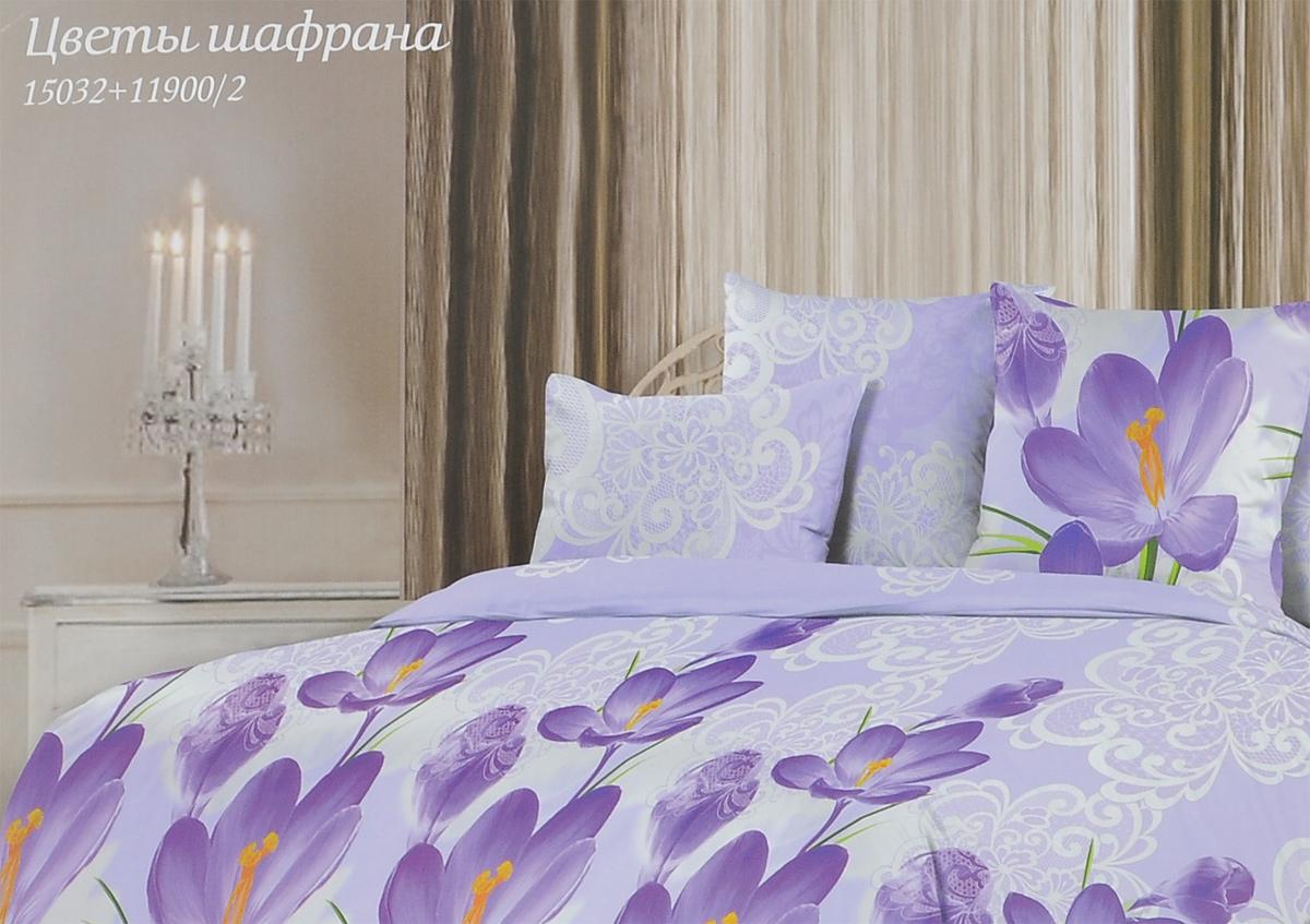 Комплект белья Romantic Цветы шафрана, 1,5-спальный, наволочки 50х70, цвет: сиреневый, белый. 295478295478Роскошный комплект постельного белья Romantic Цветы шафрана выполнен из ткани Lux Cotton, произведенной из натурального длинноволокнистого мягкого 100% хлопка. Ткань приятная на ощупь, при этом она прочная и хорошо сохраняет форму. Ткань легко гладится. Комплект состоит из пододеяльника, простыни и двух наволочек, оформленных цветочным принтом. Постельное белье Romantic создано специально для утонченных и романтичных натур. Дизайн постельного белья подчеркнет ваш индивидуальный стиль и создаст неповторимую и романтическую атмосферу в вашей спальне.