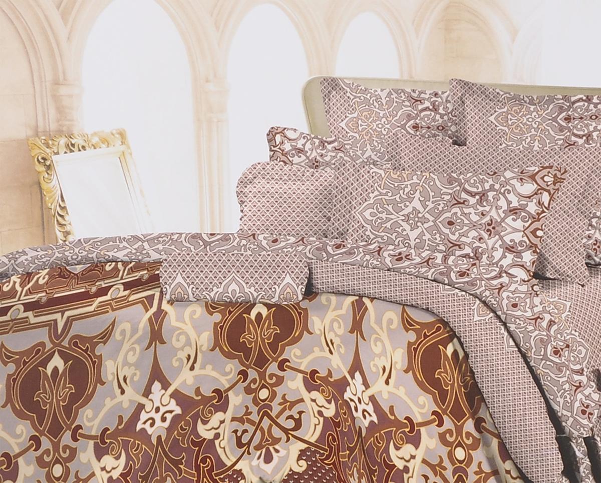 Комплект белья Romantic Винсенто, 2-спальный, наволочки 50х70, цвет: коричневый, бежевый. 319115319115Роскошный комплект постельного белья Romantic Винсенто выполнен из ткани Lux Cotton, произведенной из натурального длинноволокнистого мягкого 100% хлопка. Ткань приятная на ощупь, при этом она прочная, хорошо сохраняет форму и легко гладится. Комплект состоит из пододеяльника, простыни и двух наволочек, оформленных оригинальным принтом. Постельное белье Romantic создано специально для утонченных и романтичных натур. Дизайн постельного белья подчеркнет ваш индивидуальный стиль и создаст неповторимую и романтическую атмосферу в вашей спальне.