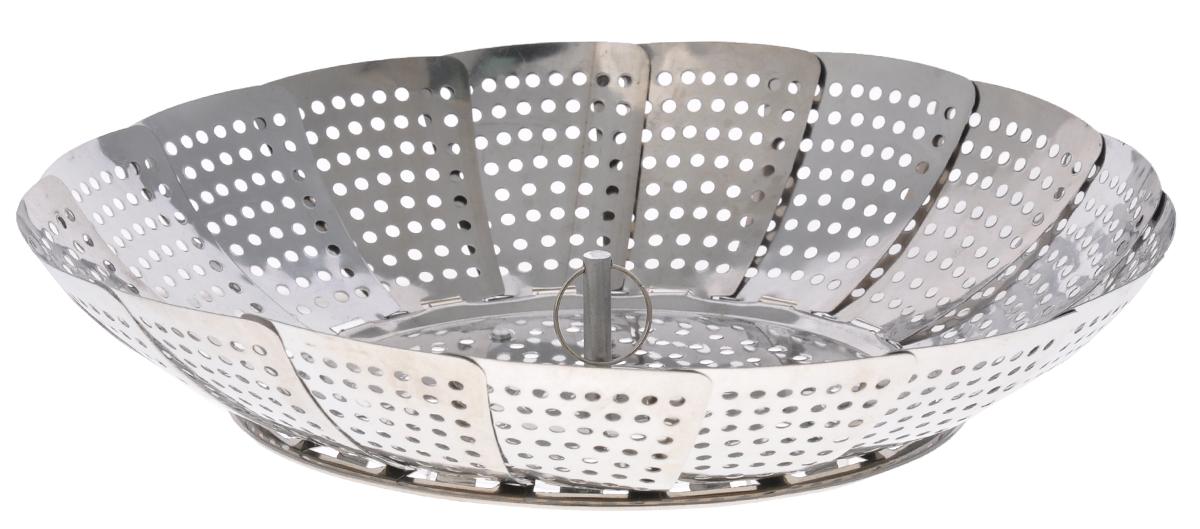 Корзина для пароварки Bohmann, диаметр 24 см3201BHMМногофункциональная корзина для овощей в пароварку Bohmann изготовлена из высококачественной нержавеющей стали. Корзина принимает необходимый диаметр, подходящий к большинству кастрюль. Приготовление овощей в паровой корзине способствует сохранению всех полезных свойств и витаминов в продуктах. Уменьшается время приготовления пищи и вероятность пригорания. Корзину можно использовать как поднос для сохранения овощей более теплыми. Удобно хранить - в сложенном виде занимает мало места. Можно мыть в посудомоечной машине. Максимальный диаметр: 24 см. Минимальный диаметр: 16 см.