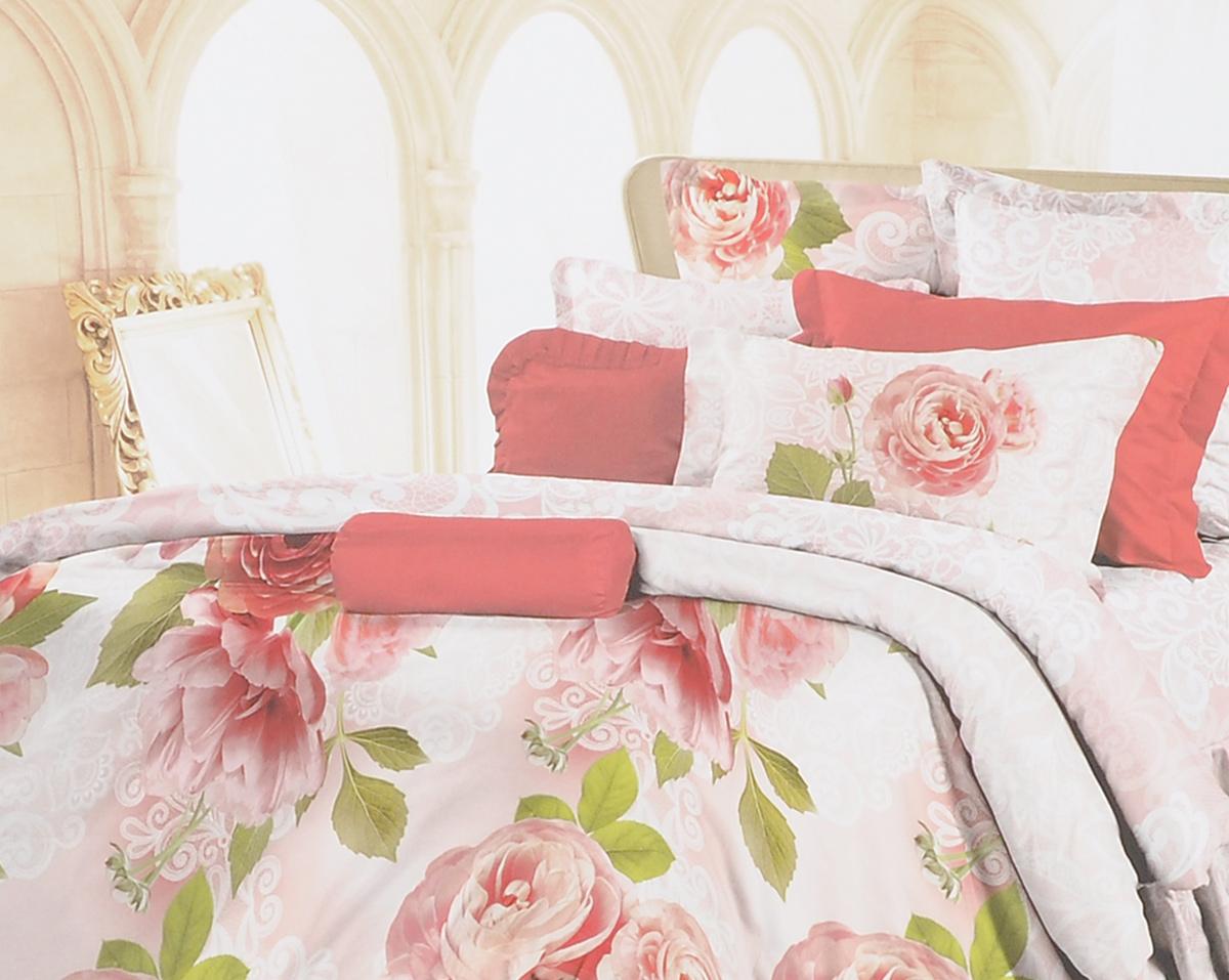 Комплект белья Romantic Свежие бутоны, 2-спальный, наволочки 50х70, цвет: розовый, красный, белый. 295492295492Роскошный комплект постельного белья Romantic Свежие бутоны выполнен из ткани Lux Cotton, произведенной из натурального длинноволокнистого мягкого 100% хлопка. Ткань приятная на ощупь, при этом она прочная, хорошо сохраняет форму и легко гладится. Комплект состоит из пододеяльника, простыни и двух наволочек, оформленных цветочным принтом. Постельное белье Romantic создано специально для утонченных и романтичных натур. Дизайн постельного белья подчеркнет ваш индивидуальный стиль и создаст неповторимую и романтическую атмосферу в вашей спальне.