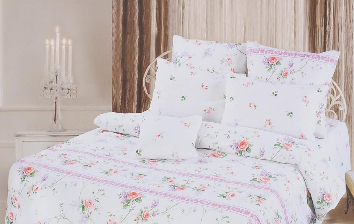 Комплект белья Romantic Прованс, 1,5-спальный, наволочки 70х70, цвет: белый, зеленый, сиреневый. 252492252492Роскошный комплект постельного белья Romantic Прованс выполнен из ткани Lux Cotton, произведенной из натурального длинноволокнистого мягкого 100% хлопка. Ткань приятная на ощупь, при этом она прочная, хорошо сохраняет форму и легко гладится. Комплект состоит из пододеяльника, простыни и двух наволочек, оформленных цветочным принтом. Постельное белье Romantic создано специально для утонченных и романтичных натур. Дизайн постельного белья подчеркнет ваш индивидуальный стиль и создаст неповторимую и романтическую атмосферу в вашей спальне.
