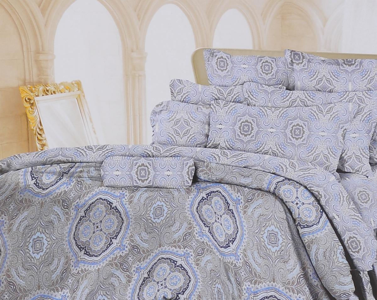 Комплект белья Romantic Валери, 1,5-спальный, наволочки 70х70, цвет: синий, коричневый, серый. 319087319087Роскошный комплект постельного белья Romantic Валери выполнен из ткани Lux Cotton, произведенной из натурального длинноволокнистого мягкого 100% хлопка. Ткань приятная на ощупь, при этом она прочная, хорошо сохраняет форму и легко гладится. Комплект состоит из пододеяльника, простыни и двух наволочек, оформленных оригинальным принтом. Постельное белье Romantic создано специально для утонченных и романтичных натур. Дизайн постельного белья подчеркнет ваш индивидуальный стиль и создаст неповторимую и романтическую атмосферу в вашей спальне.
