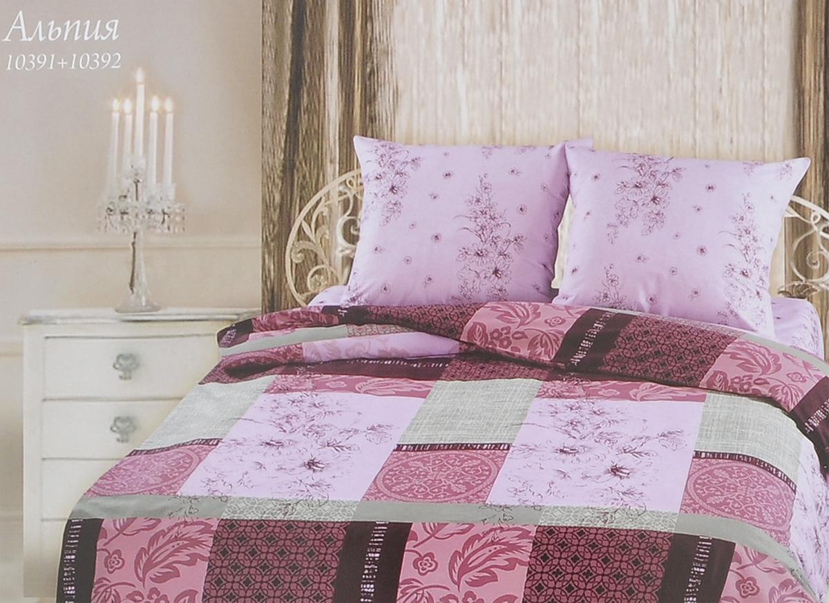 Комплект белья Romantic Альпия, 1,5-спальный, наволочки 50х70, цвет: светло-розовый, бордовый. 263473263473Роскошный комплект постельного белья Romantic Альпия выполнен из ткани Lux Cotton, произведенной из натурального длинноволокнистого мягкого 100% хлопка. Ткань приятная на ощупь, при этом она прочная, хорошо сохраняет форму и легко гладится. Комплект состоит из пододеяльника, простыни и двух наволочек, оформленных оригинальным принтом. Постельное белье Romantic создано специально для утонченных и романтичных натур. Дизайн постельного белья подчеркнет ваш индивидуальный стиль и создаст неповторимую и романтическую атмосферу в вашей спальне.