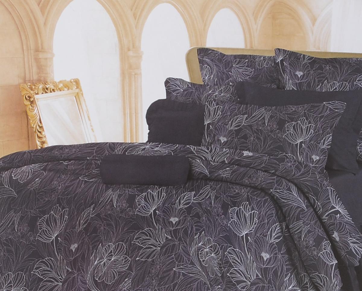 Комплект белья Romantic Ночь нежна, 1,5-спальный, наволочки 70х70, цвет: темно-синий. 326079326079Роскошный комплект постельного белья Romantic Ночь нежна выполнен из ткани Lux Cotton, произведенной из натурального длинноволокнистого мягкого 100% хлопка. Ткань приятная на ощупь, при этом она прочная, хорошо сохраняет форму и легко гладится. Комплект состоит из пододеяльника, простыни и двух наволочек, оформленных цветочным принтом. Постельное белье Romantic создано специально для утонченных и романтичных натур. Дизайн постельного белья подчеркнет ваш индивидуальный стиль и создаст неповторимую и романтическую атмосферу в вашей спальне.