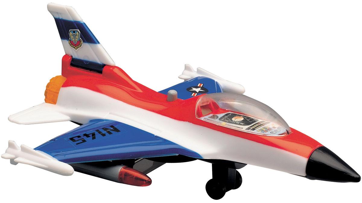 Dickie Toys Истребитель цвет белый синий красный3553006_белый, синий, красныйИстребитель Dickie является миниатюрной копией настоящего истребителя. Игрушка, изготовленная из прочного пластика, порадует вашего малыша. Истребитель снабжен двумя шасси и двумя ракетами для запуска. При нажатии кнопки на корпусе слышны реалистичные звуки взлетающего и садящегося истребителя. Порадуйте своего ребенка таким замечательным подарком. Рекомендуется докупить 2 батарейки типа LR41 (товар комплектуется демонстрационными).