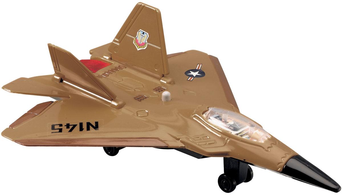 Dickie Toys Истребитель цвет коричневый3553006_коричневыйИстребитель Dickie является миниатюрной копией настоящего истребителя. Игрушка, изготовленная из прочного пластика, порадует вашего малыша. Истребитель снабжен двумя шасси и двумя ракетами для запуска. При нажатии кнопки на корпусе слышны реалистичные звуки взлетающего и садящегося истребителя. Порадуйте своего ребенка таким замечательным подарком. Рекомендуется докупить 2 батарейки типа LR41 (товар комплектуется демонстрационными).