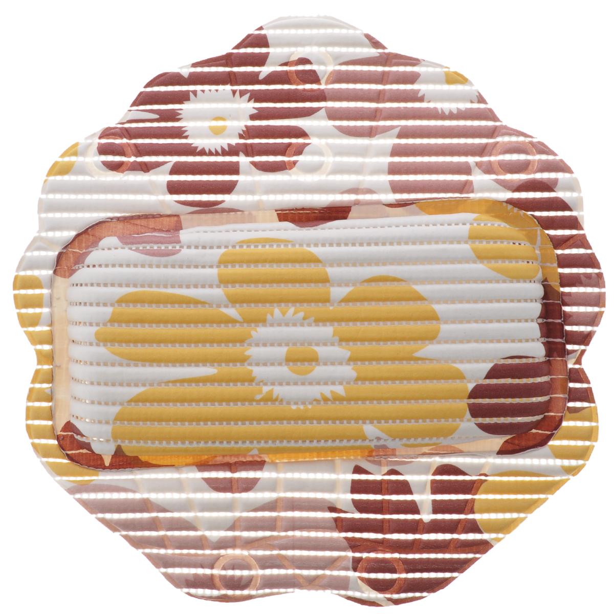 Подушка для ванны Fresh Code Flexy, на присосках, цвет: белый, желтый, светло-вишневый, 33 х 33 см55764_желтый, светло-вишневыйПодушка для ванны Fresh Code Flexy обеспечивает комфорт во время принятия ванны. Крепится на поверхность ванной с помощью присосок. Выполнена из ПВХ.