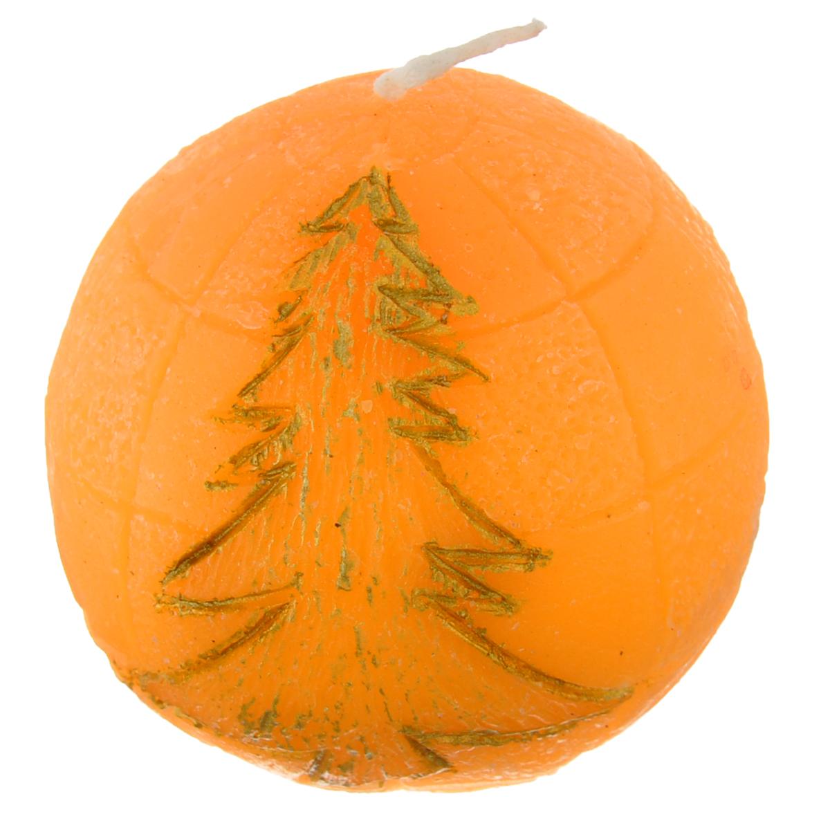 Свеча декоративная Lunten Ranta Подарок, цвет: оранжевый, диаметр 5 см65939_оранжевыйСвеча декоративная Lunten Ranta Подарок выполнена из парафина. Изделие в виде шара с изображением елочки отличается ярким дизайном, который понравится всем. Создайте для себя и своих близких незабываемую атмосферу праздника и уюта в доме.