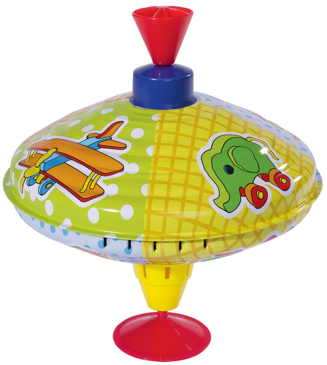 Simba Юла цвет желтый голубой4011891_желтый, голубойЯркая юла Simba станет для вашего малыша любимой игрушкой. Юла выполнена из безопасного материала в яркой цветовой гамме и оформлена различными изображениями. Раскручивается юла посредством нажатия на ручку. При вращении юла издает приятный звук. Юла - динамическая игрушка для самых маленьких, которая стимулирует познавательную активность, развивает наглядно-действенное мышление, координацию движений и мелкую моторику рук. Порадуйте своего непоседу таким великолепным подарком!