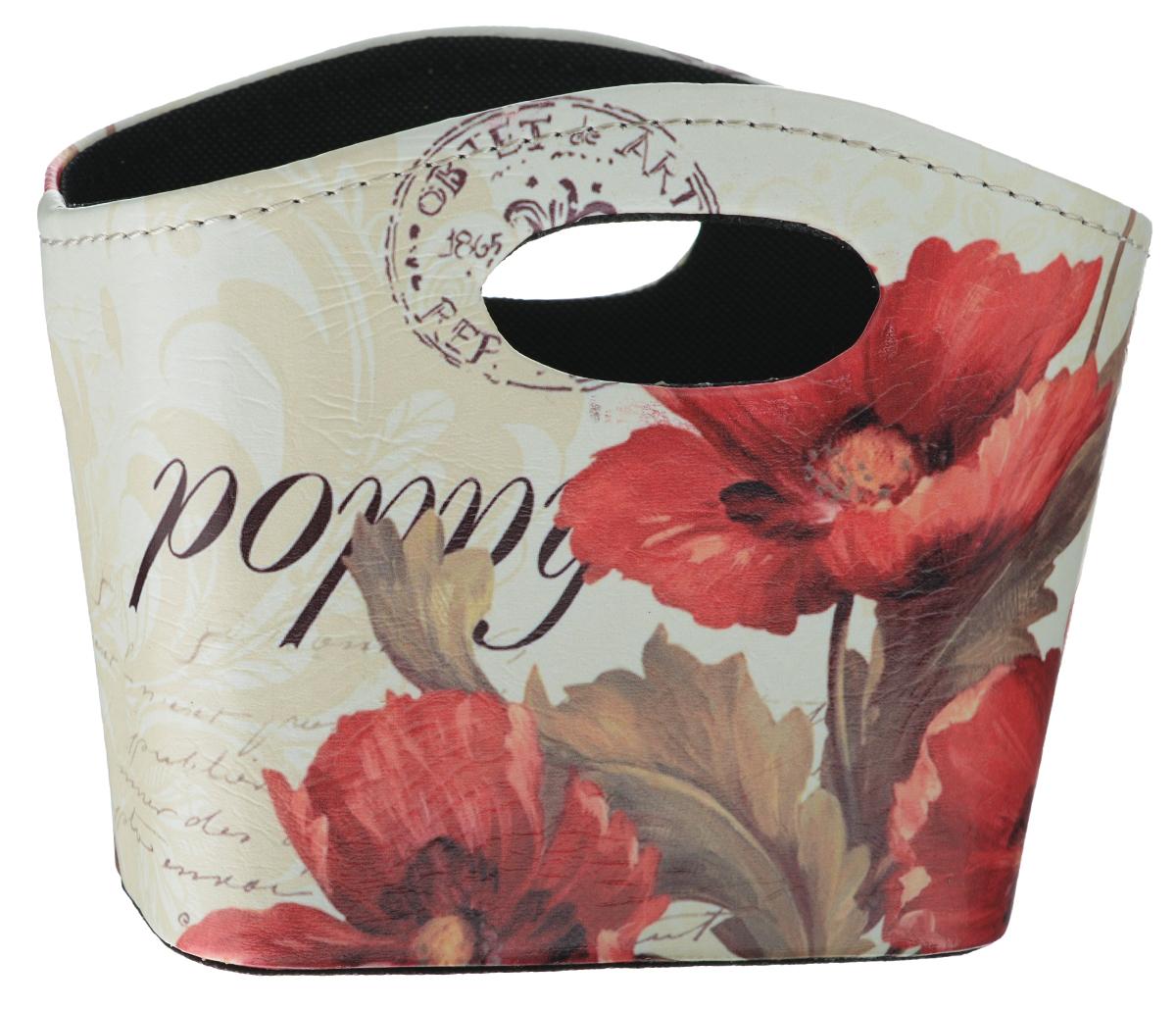 Сумка для хранения El Casa Маки, 20 х 11 х 16 см171176Интерьерная сумка El Casa Маки, выполненная из МДФ, текстиля и искусственной кожи, понравится всем ценителям оригинальных вещей. Благодаря прекрасному дизайну и необычной форме, такая сумка будет отлично смотреться в вашей гостиной или коридоре. В ней можно хранить всевозможные мелочи: расчески, заколки, журналы или газеты. Сумка El Casa Маки станет отличным подарком для ваших друзей и близких.