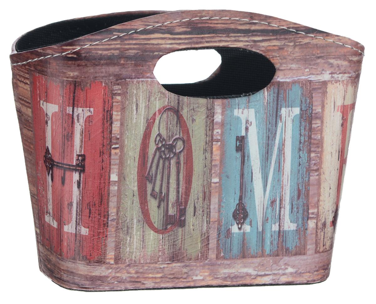 Сумка для хранения El Casa Винтаж, 20 х 11 х 16 см171172Интерьерная сумка El Casa Винтаж, выполненная из МДФ, текстиля и искусственной кожи, понравится всем ценителям оригинальных вещей. Благодаря прекрасному дизайну и необычной форме, такая сумка будет отлично смотреться в вашей гостиной или коридоре. В ней можно хранить всевозможные мелочи: расчески, заколки, журналы или газеты. Сумка El Casa Винтаж станет отличным подарком для ваших друзей и близких.