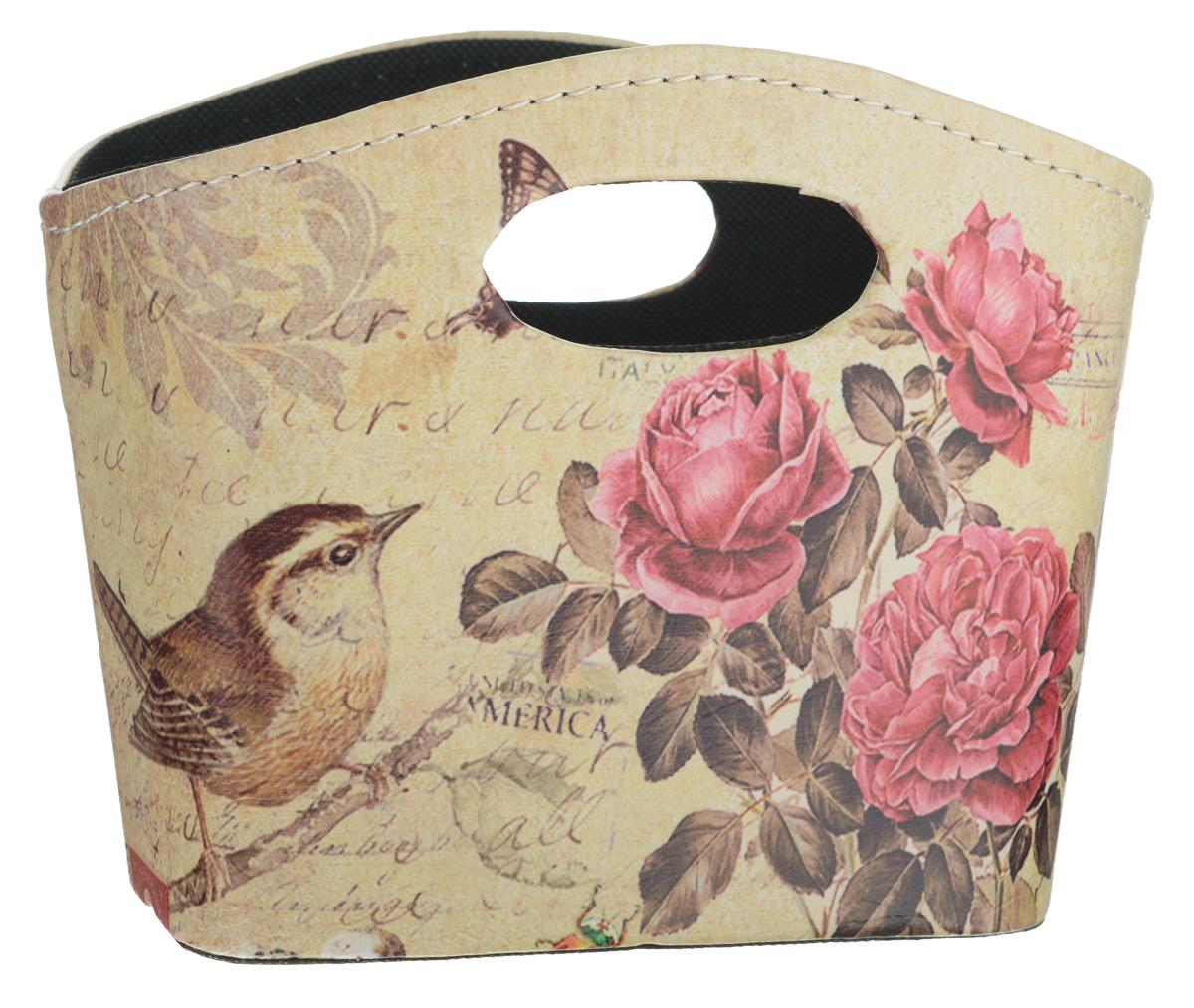 Сумка для хранения El Casa Птичка с розами, 20 х 11 х 16 см171174Интерьерная сумка El Casa Птичка с розами, выполненная из МДФ и текстиля, понравится всем ценителям оригинальных вещей. Благодаря прекрасному дизайну и необычной форме, такая сумка будет отлично смотреться в вашей гостиной или коридоре. В ней можно хранить всевозможные мелочи: расчески, заколки, журналы или газеты. Сумка El Casa Птичка с розами станет отличным подарком для ваших друзей и близких.