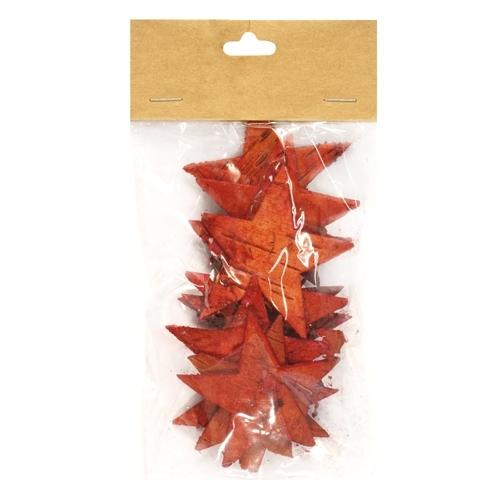 Декоративный элемент Dongjiang Art Звезда, цвет: красный, 12 шт7709007_красныйДекоративный элемент Dongjiang Art Звезда, изготовленный из натуральной коры дерева, предназначен для украшения цветочных композиций. Изделие выполнено в виде звезды, которое можно также использовать в технике скрапбукинг и многом другом. Флористика - вид декоративно-прикладного искусства, который использует живые, засушенные или консервированные природные материалы для создания флористических работ. Это целый мир, в котором есть место и строгому математическому расчету, и вдохновению. Размер одного элемента: 6,5 см х 5,5 см.