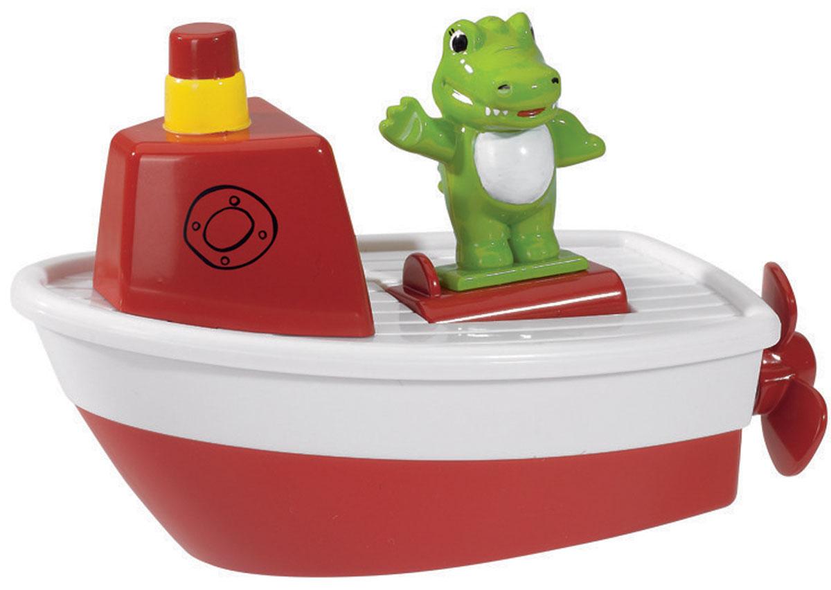 Simba Игрушка для ванны Лодочка цвет красный4010291_красныйЯркая игрушка для ванны Simba Лодочка, чтобы полезное занятие стало еще очень занимательным и любимым! Выполнено изделие из абсолютно безопасных для ребенка материалов. Игрушка представляет собой лодку, на которой располагается милый крокодильчик. Необходимо набрать ванну водой и разместить лодочку. При движении лодки крокодил покачивается из стороны в сторону. Ваш ребенок будет в восторге от такой игрушки. Благодаря небольшому размеру игрушки, ваш ребенок будет развивать мелкую моторику рук. Веселый персонаж, сидящий в лодке, позабавит малыша, а процесс купания станет увлекательным и беззаботным.