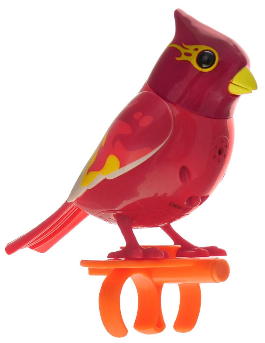 DigiBirds Интерактивная игрушка Птичка Blaze88286_малиновый, красныйИнтерактивная игрушка Птичка DigiBirds Blaze - это забавная интерактивная игрушка, которая займет малыша на длительное время. Птичка стоит на специальном свистке, который удобно держать на двух пальцах. Эта игрушка умеет выполнять разные действия: щебетать, петь песенки, при этом двигая головой и клювом. Если подуть на грудку птички, она начнет щебетать. Если подуть в свисток, птичка станет исполнять известную песенку. Игрушка воспроизводит свыше 55 музыкальных свистов. 2 режима работы игрушки: соло и хор. При переключении в режим хора можно последовательно подсоединять птичек к главной, в результате они будут вместе исполнять песенки вслед за главной птичкой и щебетать друг с другом. Игрушка развивает музыкальный слух, любовь к музыке и животным. Для работы игрушки необходимы 3 батарейки напряжением 1,5V типа AG13/LR44 (товар комплектуется демонстрационными).