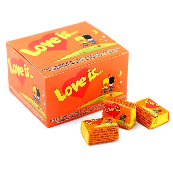 Love is жевательная резинка, ананас-апельсин, 20 шт ( 4640000276393 )